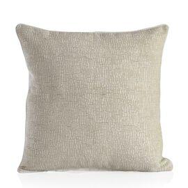 Tiles Design Champagne Colour Cushion (Size 43x43 Cm)