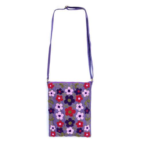 Royal bali collection floral embroidery violet shoulder