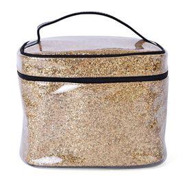 Golden Colour PVC Cosmetic Bag (Size 23x16x16 Cm)