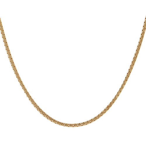 JCK Vegas Collection 9K Y Gold Box Necklace (Size 22), Gold wt 12.59 Gms.