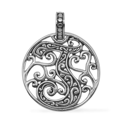 Royal Bali Collection Sterling Silver Initial J Pendant, Silver wt 3.00 Gms.
