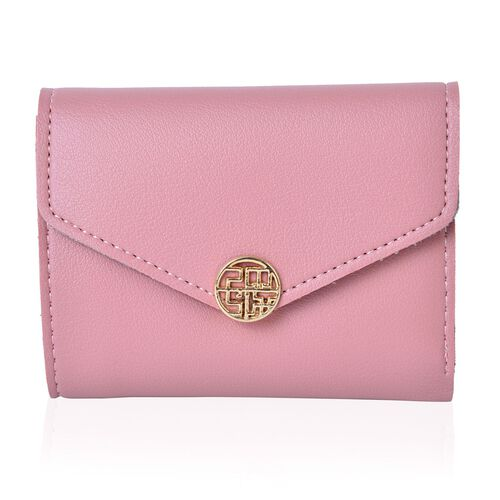 Pink Colour Purse with Multiple Card Slots (Size 11.5X9X1 Cm)