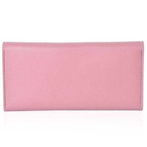 Pink Colour Ladies Wallet with Multiple Card Slots (Size 19X10X1 Cm)