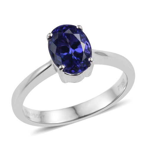RHAPSODY 950 Platinum AAAA Tanzanite (Ovl) Ring 2.000 Ct.