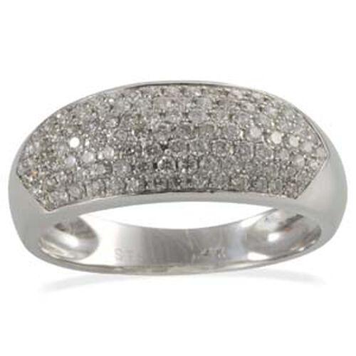 Diamond (0.60 Ct) 14K W Gold Ring