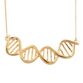 Science Jewellery - DNA Chromosomes Silver Necklace in Gold Overlay (Size 18), Silver wt 7.00 Gms.