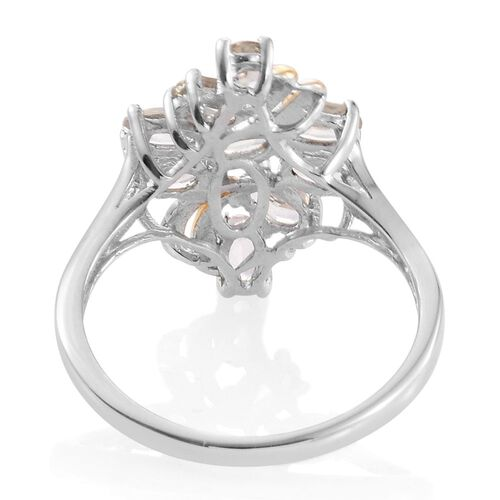 Natural Turkizite (Ovl) Ring in Platinum and Yellow Gold Overlay Sterling Silver 1.750 Ct.