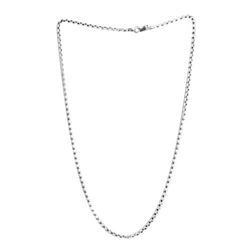JCK Vegas Collection Sterling Silver Diamond Cut Popcorn Necklace (Size 24), Silver wt 11.00 Gms.