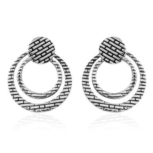 Thai Sterling Silver Earrings (with Push Back), Silver wt. 5.40 Gms