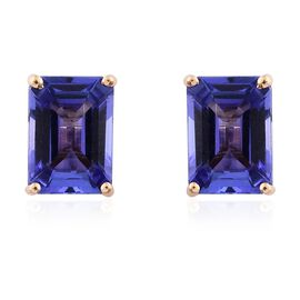 ILIANA 18K Yellow Gold 2 Ct AAA Tanzanite Stud Earrings (with Screw Back)