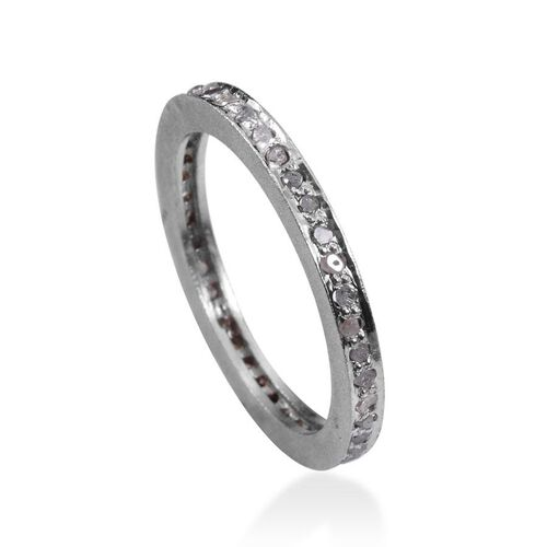 Diamond (Rnd) Full Eternity Band Ring in Sterling Silver 0.500 Ct.