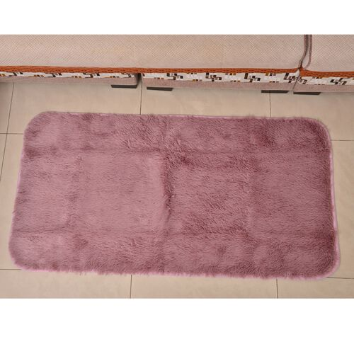 Super-Plush Extra-Long Pile Dusty Pink Colour YETI Lounge Rug (Size 180X140 Cm)