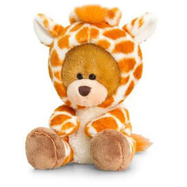Orange, White and Chocolate Colour Pipp Bear with Onesie Giraffe (Size 14 Cm)