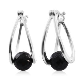 Boi Ploi Black Spinel Earrings (with Clasp) in Sterling Silver 10.250 Ct.