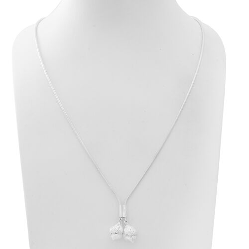 Vicenza Collection- Designer Inspired Sterling Silver Adjustable Necklace (Size 24), Silver wt 24.00 Gms.