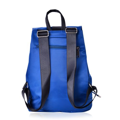 Designer Inspired Blue and Black Colour Back Pack (Size 32x27x13 Cm)