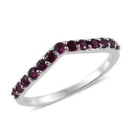 RHAPSODY 950 Platinum 0.50 Carat Pigeon Blood Burmese Ruby Wishbone Ring