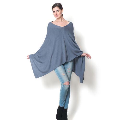100% Merino Cashmere Wool Grey Colour Body Shawl (Free Size)