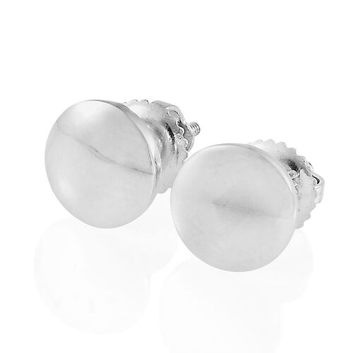 RHAPSODY 950 Platinum Round Disc Stud Earrings (with Screw Back), Platinum wt 3.50 Gms.