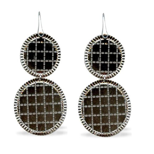 Vicenza Collection Sterling Silver Earrings, Silver wt 6.10 Gms.