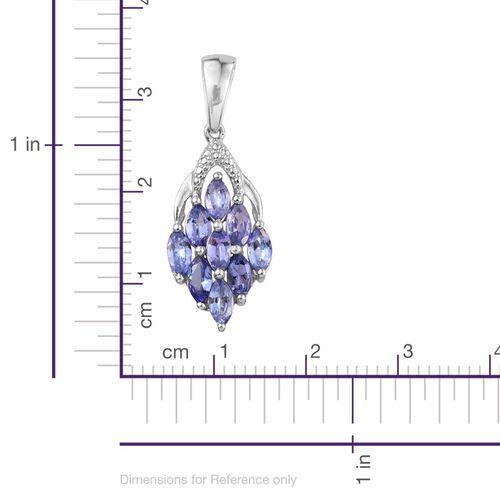 Tanzanite (Mrq) Pendant in Platinum Overlay Sterling Silver 1.250 Ct.