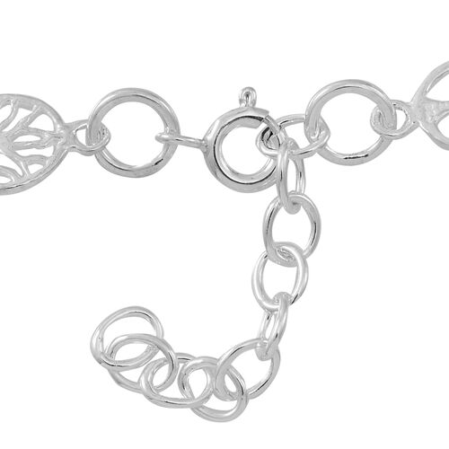 Thai Sterling Silver Tree of Life Bracelet (Size 7.5 with Half inch Extender), Silver wt 6.69 Gms.