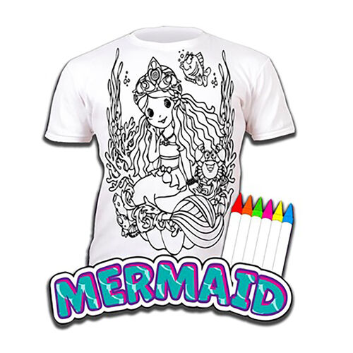 100% Cotton Mermaid Childrens T-Shirt Age 9-11 (Extra Large) (Size 140 Cm) Estimated delivery within 5-7 working days