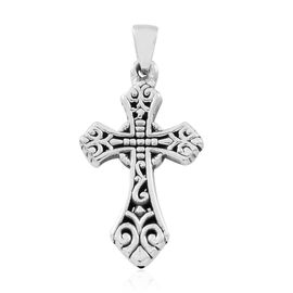 Easter Special- Sterling Silver Filigree Cross Pendant, Silver wt. 3.00 Gms.