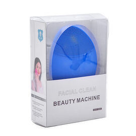Blue Colour Silicone Face Cleansing Brush (Size 10x8 Cm)