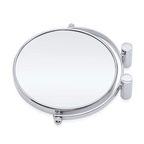 360 degree, double sided high quality compact design Mirror (Size 16.5x15 Cm)- 3 x mag.