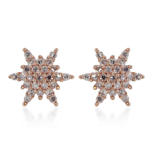 9K Rose Gold 0.33 Ct Natural Pink Diamond Starburst Earrings (with Push Back) SGL Certified (I3/G-H)