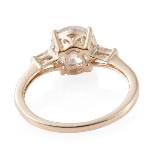 J Francis - 9K Yellow Gold Ring Made with SWAROVSKI ZIRCONIA