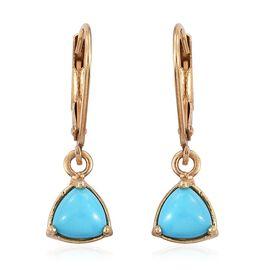Arizona Sleeping Beauty Turquoise (Trl) Earrings in 14K Gold Overlay Sterling Silver 1.000 Ct.