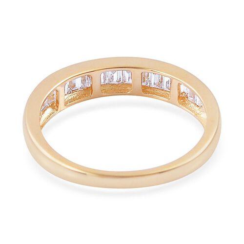 ILIANA 18K Y Gold IGI Certified Diamond (Bgt) (VS-SI/ G-H) Half Eternity Band Ring 0.500 Ct.