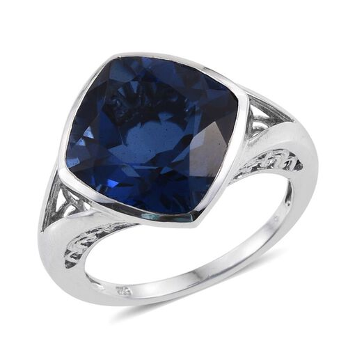 Ceylon Colour Quartz (Cush) Solitaire Ring in Platinum Overlay Sterling Silver 9.500 Ct.