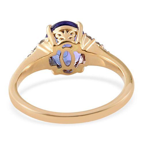 ILIANA 18K Y Gold AAA Tanzanite (Ovl 2.75 Ct), Diamond (SI/G-H) Ring 3.000 Ct.