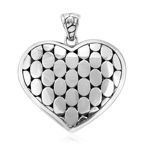 Royal Bali Collection Sterling Silver Heart Pendant, Silver wt 8.36 Gms.