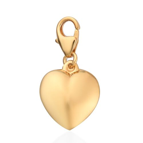 Heart Charm in Gold Plated Silver