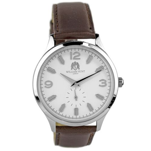 WILLIAM HUNT - EITA SILVER & WHITE WATCH