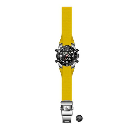 ZTSport Digital Chronograph, 100 mts, Yellow Silicon Strap, Quality 3-Hand Sport Watch.
