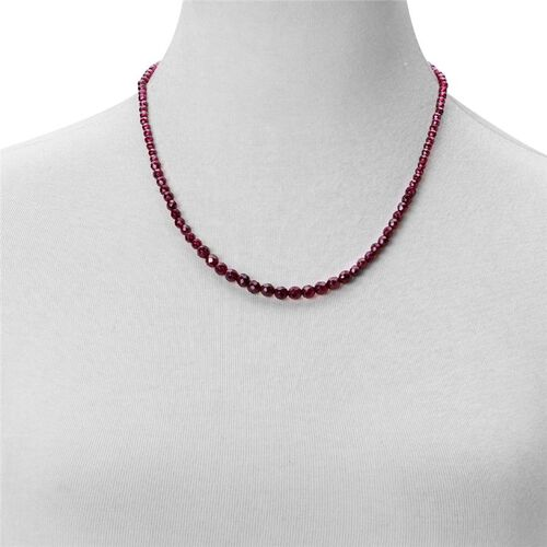 Odisha Rhodolite Garnet Necklace (Size 20) with Clasp Lock in Rhodium Plated Sterling Silver 80.000 Ct.