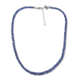 Limited Edition - Masoala Sapphire Beads Graduated Necklace (Size 18 with 2 inch Extender) with Magnetic Clasp in Platinum Overlay Sterling Silver 77.960 Ct.