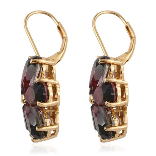 Bi-Color Tourmaline Quartz (Pear) Floral Earrings in 14K Gold Overlay Sterling Silver 16.250 Ct.