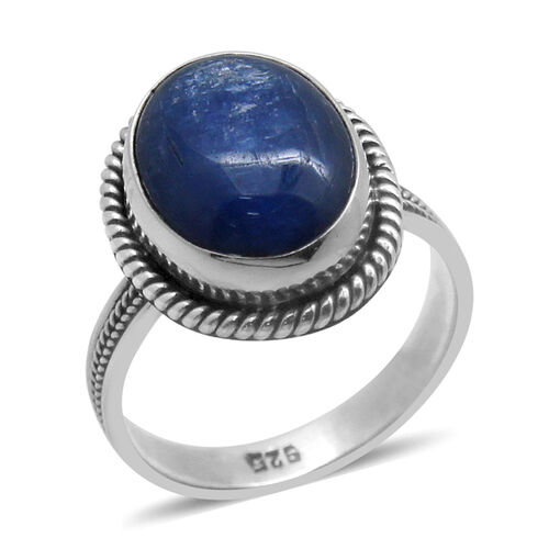 Royal Bali Collection Himalayan Kyanite (Ovl) Solitaire Ring in Sterling Silver 9.680 Ct.