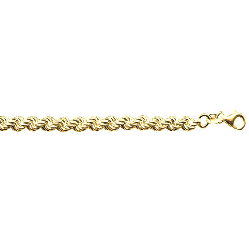 Vicenza Collection 14K Gold Overlay Sterling Silver Rope Necklace (Size 30), Silver wt. 23.23 Gms.