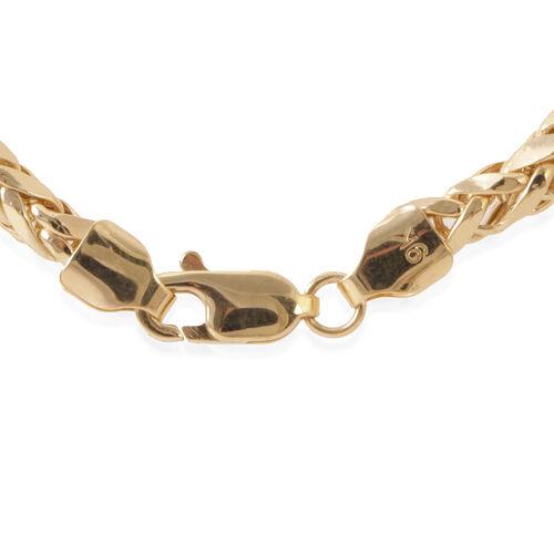 9K Y Gold Hand Made Diamond Cut Tulang Naga Necklace (Size 24), Gold wt 12.75 Gms.