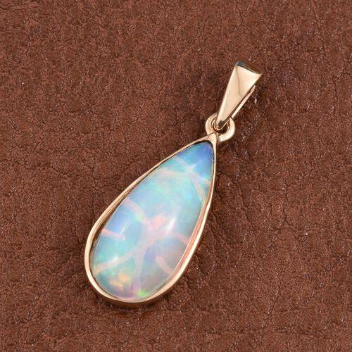 ILIANA 18K Y Gold Ethiopian Welo Opal (Pear) Solitaire Pendant 4.000 Ct.