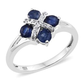 Masoala Sapphire (Rnd), Natural Cambodian Zircon Ring in Sterling Silver 1.750 Ct.