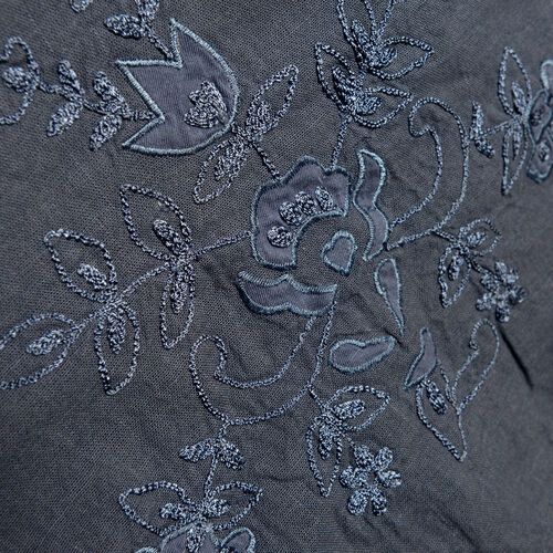 New For Season - 100% Cotton Leaves and Floral Embroidered Navy Colour Apparel (Free Size)