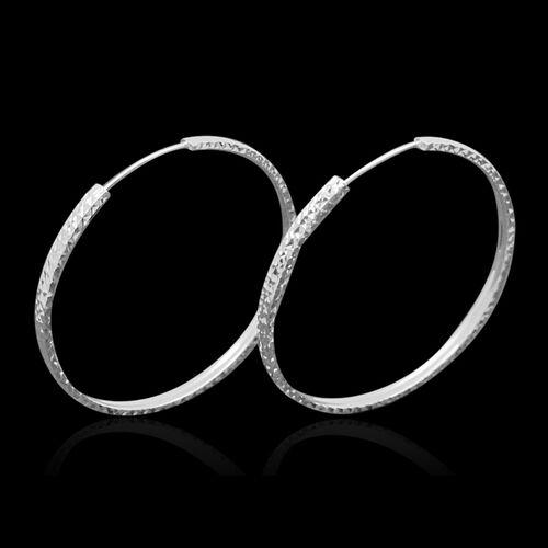 JCK Vegas Collection 9K W Gold Hoop Earrings